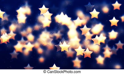 HD Loopable Background with nice flying golden stars - HD...