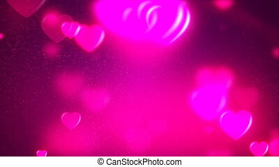 HD Loopable Background with nice purple flying hearts