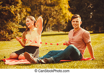 Romantic couple spending time together - Love romance dating...