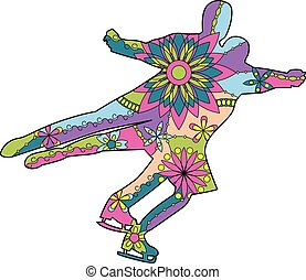 Figure skating colroful - Vector figure skating colorful