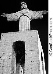 The Statue of Christ (Cristo Rei)  in Lisbon, Portugal