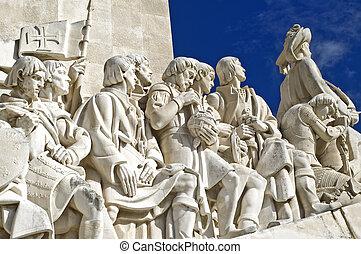 Discoveries Monument Padrão dos descobrimentos in Lisbon,...