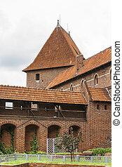 watchtower Malbork Castle - Fragment of the fortress wall...