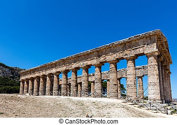The Doric temple of Segesta - Unusually well preserved Greek...