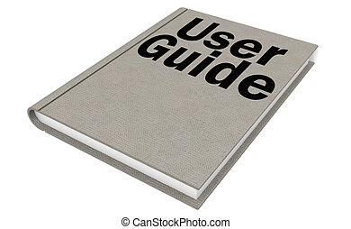 User guide Isolated on the white background, 3D rendering