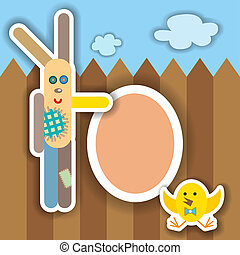 Easter scrapbook elements. illustration. - Easter...