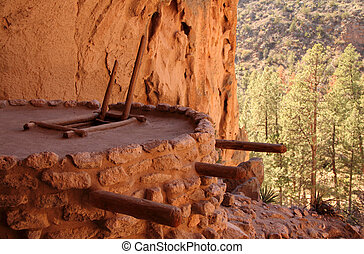 Alcove House - Ancient Anasazi Ruins Site in Bandelier...