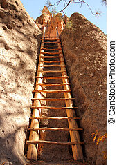Alcove House Ladder - Ancient Anasazi Ruins Site in...