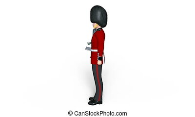 guards division man - Image of a guards division man.
