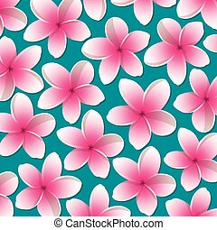 Bright frangipani pattern in vector format.