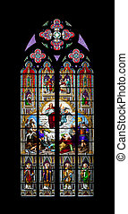 church window cologne - An image of a colorful church window...