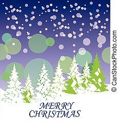 Christmas Trees - vector Christmas trees