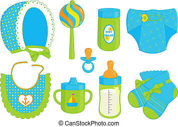 accessories for baby boy - an illustration of different...