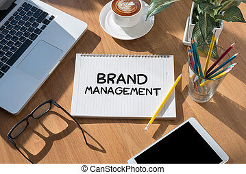 BRAND MANAGEMENT Thoughtful male person looking to the...