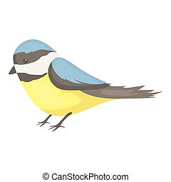 Parus icon in cartoon style isolated on white background....