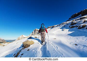 Hike in Glacier Park - Hike in Glacier National Park,...