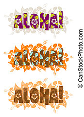 Vector illustration of aloha word - Vector illustration of...