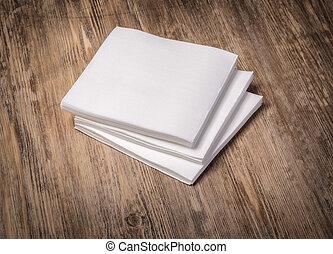 branca, papel, guardanapo