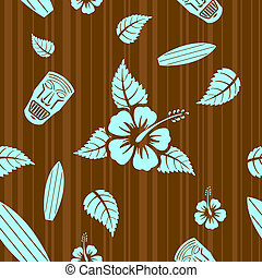Vector seamless pattern - Vector aloha seamless pattern