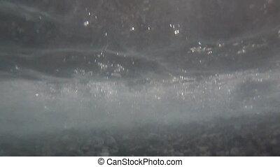 Sea underwater waves