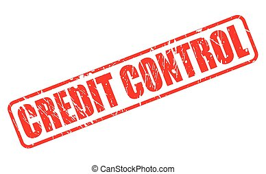 CREDIT CONTROL red stamp text on white