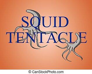 squid tentacle illustration