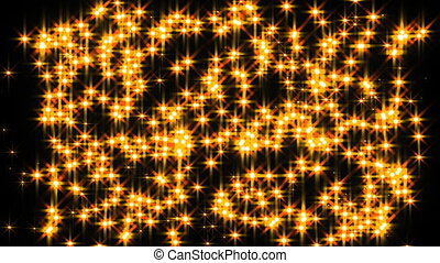 Abstract animation glittering stars