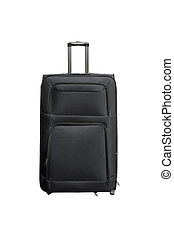 Big luggage trolley isolated on white background.