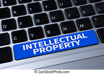 INTELLECTUAL PROPERTY a message on keyboard