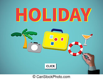 HOLIDAY HOMEPAGE businessman work on white broad, top view