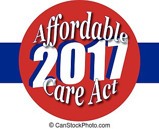 Affordable Care Act 2017 - Icon or badge or web design...
