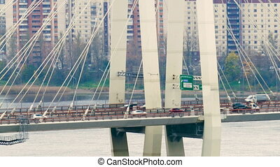 Big Obukhov bridge in Saint-Petersburg. This cable-stayed...