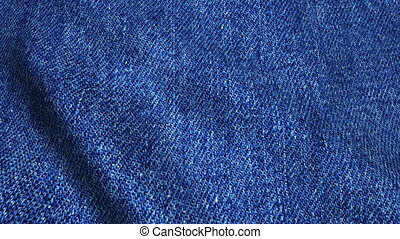 Realistic Ultra-HD jeans cloth waving in the wind. Seamless...