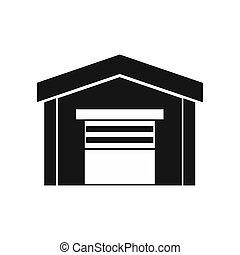 Garage icon in simple style - icon in simple style on a...