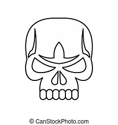 Skull icon, outline style - Skull icon in outline style...