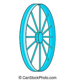Vélo, roue, Symbole, icône, dessin animé, Style