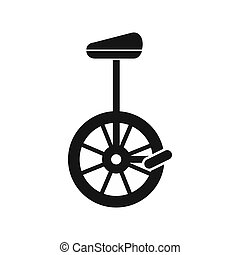 Unicycle icon in simple style - icon in simple style on a...