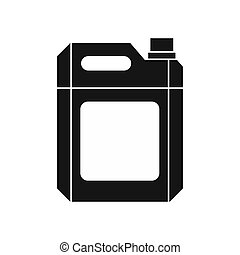 Plastic jerry can icon, simple style - icon in simple style...