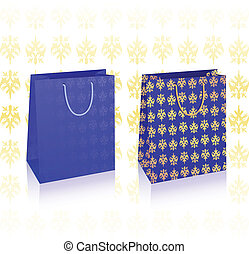 2 vector royal blue bags