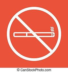 No smoke icon. Stop smoking symbol. Vector. Icon for public...