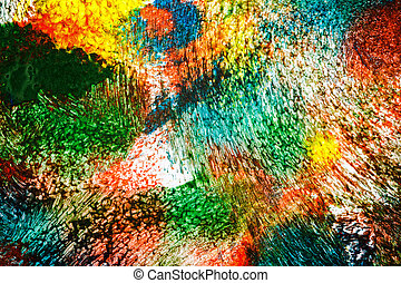 Abstract vibrant acrylic art background Multicolor light and...