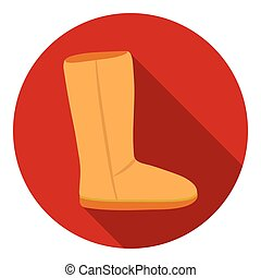Ugg boots icon in flat style isolated on white background...