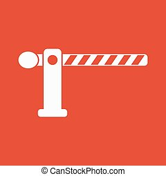 The barrier icon. Roadblock and borderline, stop, railroad...