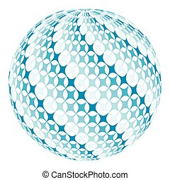 ball with diagonal swirl - ball with diagonal square swirl,...