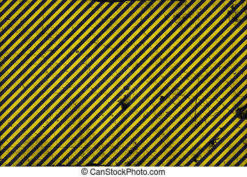 Black and yellow diagonal lines - warning lines - useful...