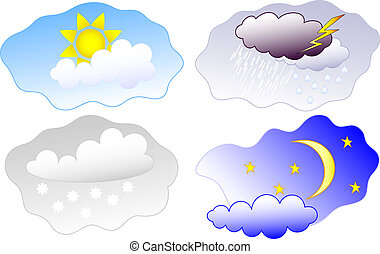 heaven elements - weather symbols set