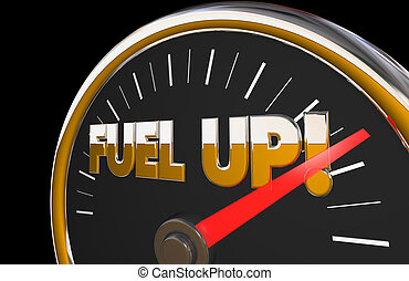 Fuel Up Gauge Gasoline Car Vehicle Needle Automotive 3d Illustration