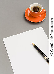 Before planning work - Image of blank paper sheet with...