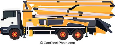 flat illustration of concrete pump in vector format eps10