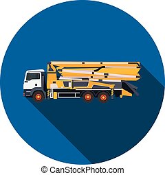 flat icon concrete pump in vector format eps10